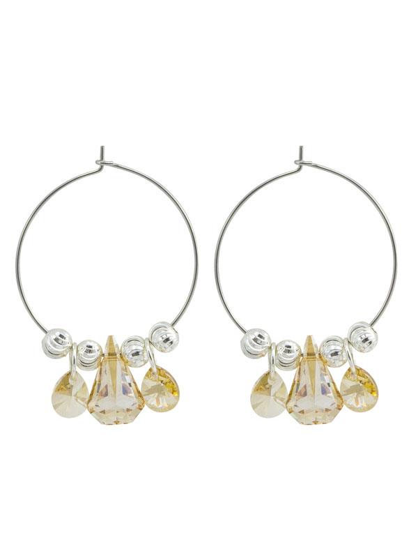 Gold Crystal Hoop Earrings made with Swarovski® Crystals