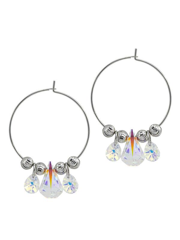 Crystal Hoop Earrings made with Swarovski® Crystals