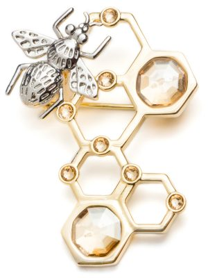 Golden Bee Brooch made with Swarovski® Crystals