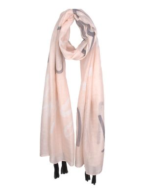"""Peach Mantra Scarf – """"Let Your Faith Be Bigger Than Your Fears"""""""