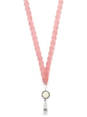 Pink Iridescent Lanyard
