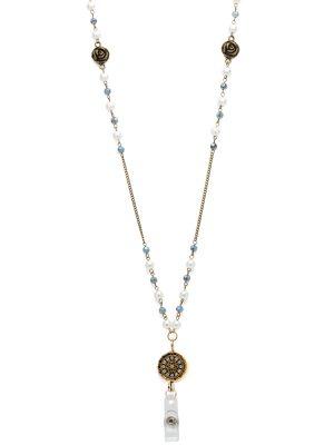 Blue Mandala Lanyard