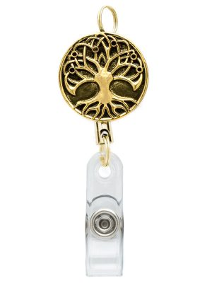 Retractable Tree of Life Badge Reel
