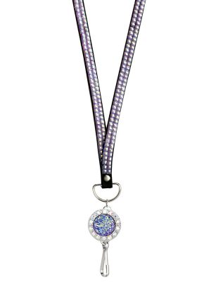 Purple Druzy Lanyard