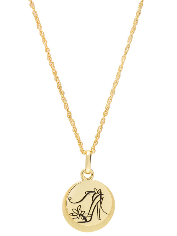 """Hidden Message Necklace – """"Chase Your Dreams… In High Heels Of Course."""""""