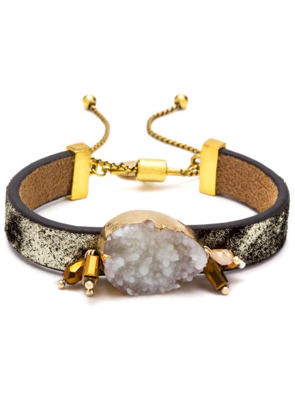 Whit Adjustable Druzy Bracelet
