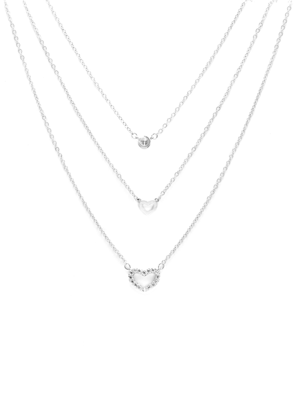 3-LAYER HEART NECKLACE
