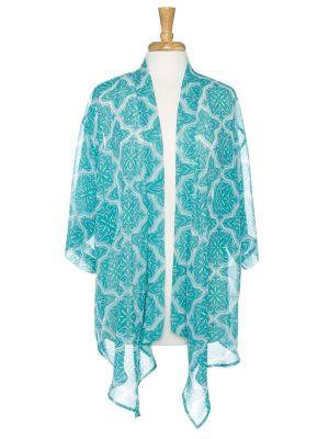 Mosaic Print Kimono