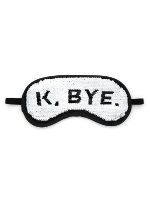 """Reversible Sequin Sleep Mask – """"K, BYE"""""""