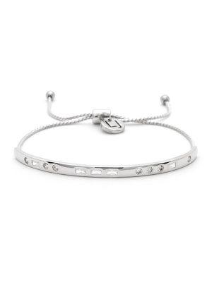 "Silver Morse Code Crystal Bracelet – ""LOVE"""