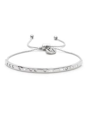 "Silver Morse Code Crystal Bracelet – ""SLAY"""