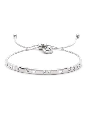 "Silver Morse Code Crystal Bracelet – ""FAITH"""