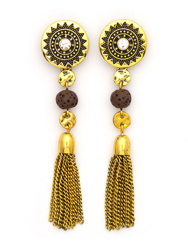 Gold Convertible Essential Oil Earrings