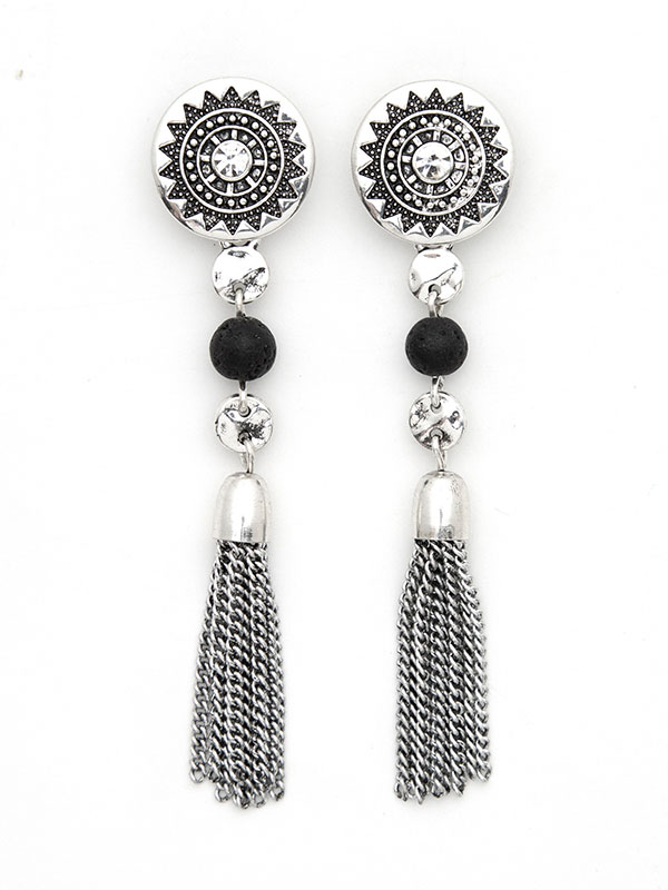 Silver Convertible Essential Oil Earrings