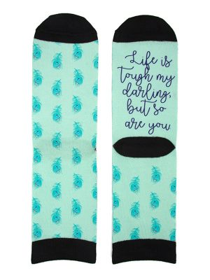 """Mantra Socks – """"Life is tough my darling, but so are you"""""""