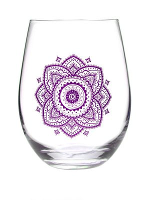 "Mantra Wine Glass – ""Every drink happens for a reason!"""