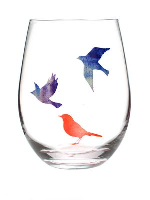 "Mantra Wine Glass – ""Find the LIQUID COURAGE to let go of what you cannot change!"""