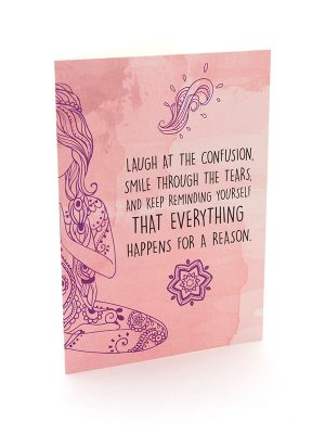 "Mantra Card – ""Everything happens for a reason."""
