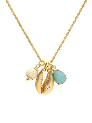 Gold Shell Charm Necklace