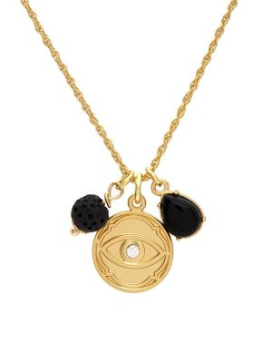 Gold Evil Eye Charm Necklace