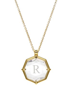 Multi-Faceted Initial Necklace
