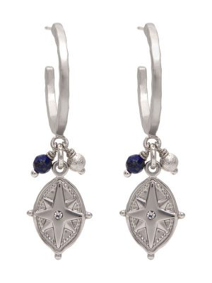 Silver Star Charm Earrings