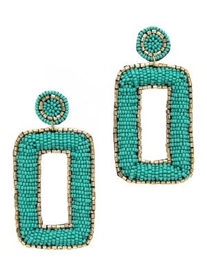 Square Disc Seed Bead Earrings
