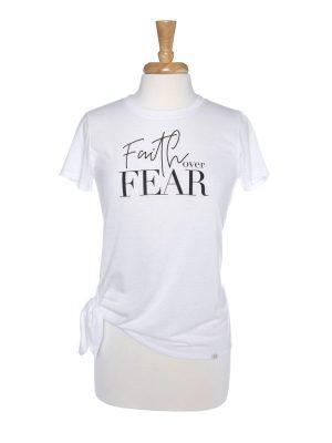 Faith Over Fear Side Tie T-Shirt