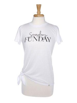 Sunday Funday Side Tie T-Shirt