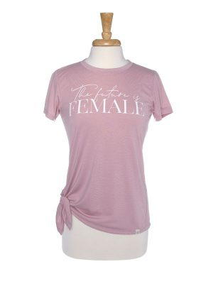 The Future Is Female Side Tie T-Shirt