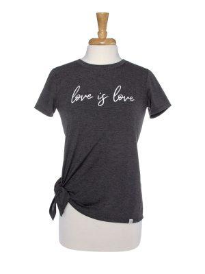 Love Is Love Side Tie T-Shirt