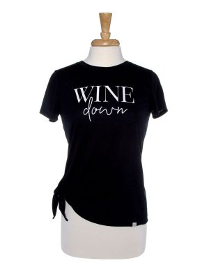 Wine Down Side Tie T-Shirt