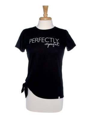 Perfectly Imperfect Side Tie T-Shirt