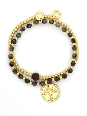 Gold Tree Life Charm Bracelet