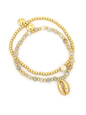 Gold Shell Charm Bracelet