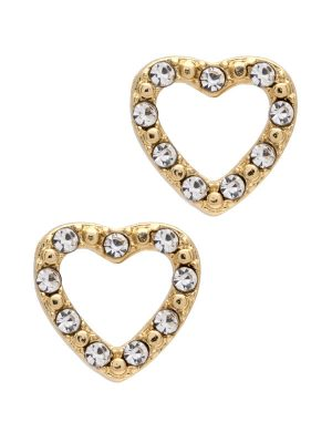Crystal Heart Stud Earrings