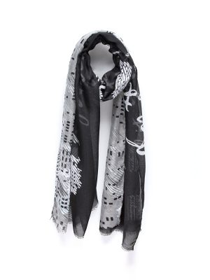 """Black Mantra Scarf – """"If It's Both Terrifying And Exciting Then You Should Pursue It"""""""