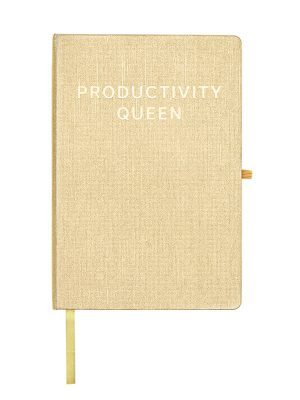 "Gold Metallic Message Journal – ""Productivity Queen"""