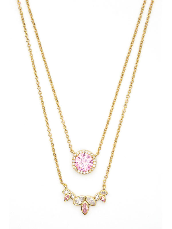 Romantic Crystals Stacking Necklaces