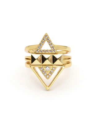Geo Stacking Ring Set