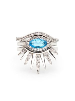 Evil Eye Stacking Ring Set