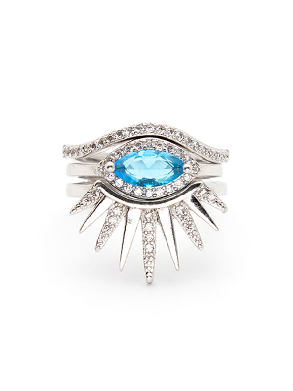 Evil Eye Stacking Ring Set