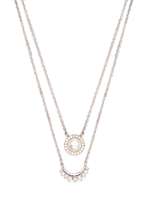 VICTORIAN PEARL STACKING NECKLACES
