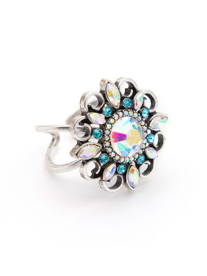 Crystal Bloom Focal Ring