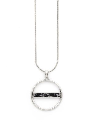Reversible Stone Circle Necklace