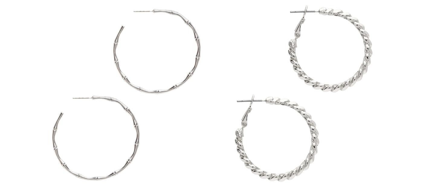 Silver-Hoops